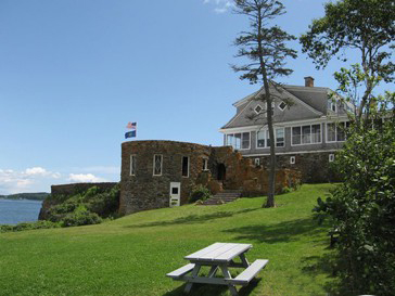 Masonry Restoration - Admiral Peary's residence in Casco Bay